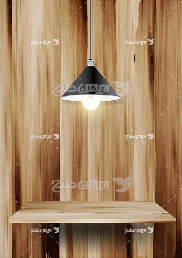بک گراند میز چوبی