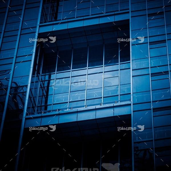 عکس نمای شیشه ای ساختمان