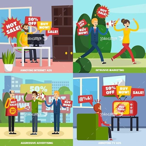 وکتور فروش و تخفیفات محصول