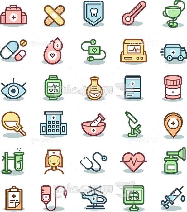 وکتور لوگو و آیکن پزشکی و سلامتی