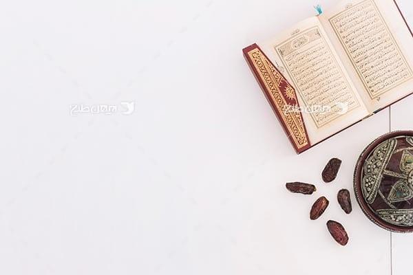 تصویر با کیفیت از قرآن و خرما