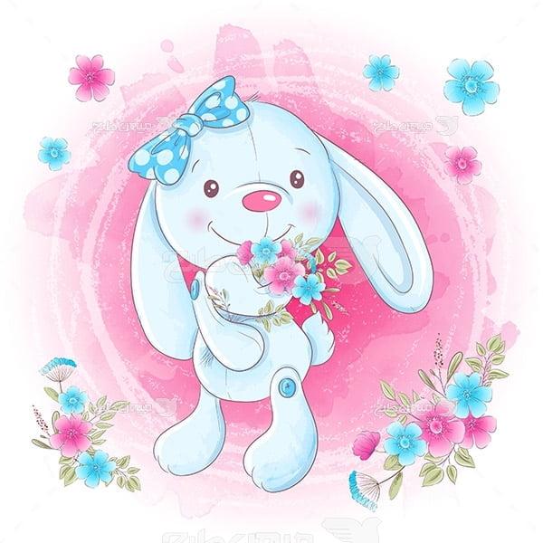 وکتور کارتونی خرگوش