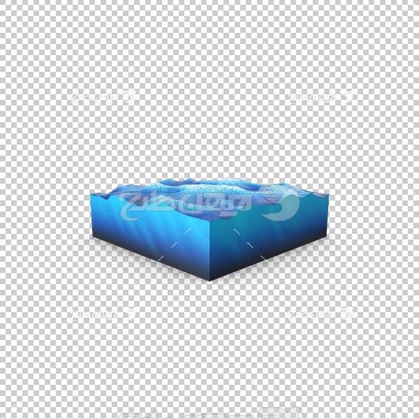 تصویر سه بعدی دوربری دریا و آب