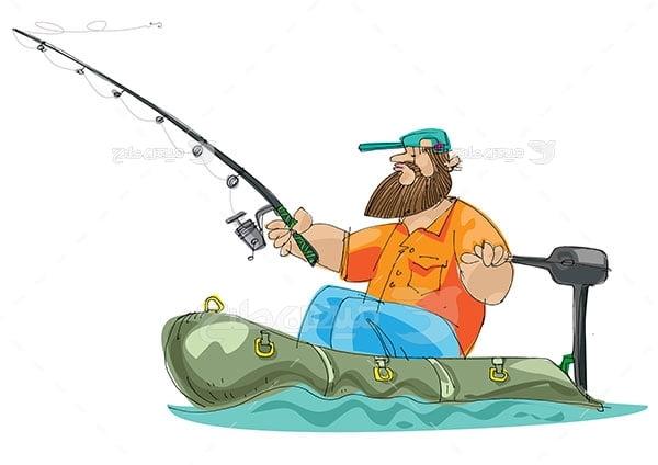 وکتور ماهی گیری