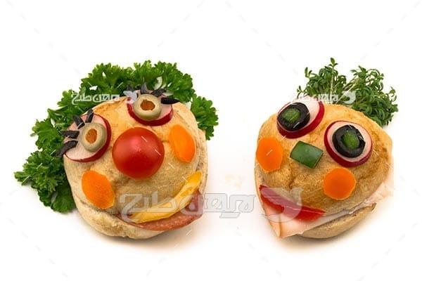 ساندویچ به شکل صورت