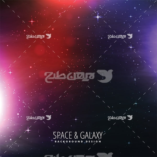 وکتور فضا و سیارات و ستاره ها