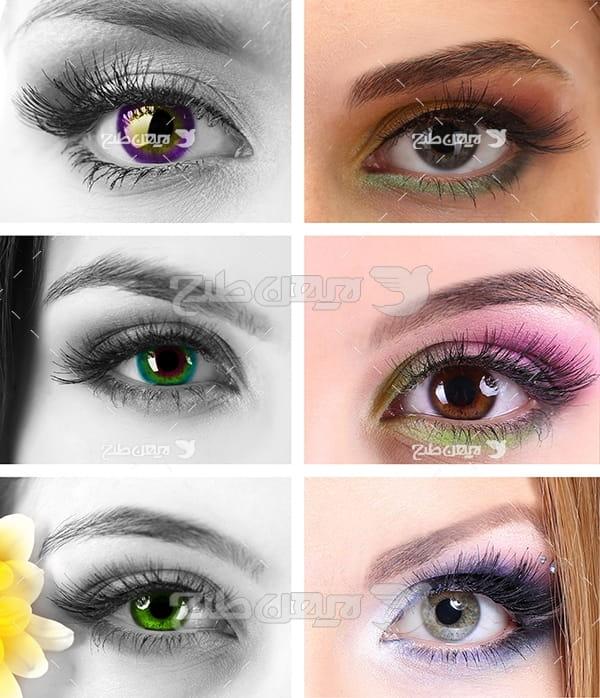 عکس انواع آرایش چشم و ابرو