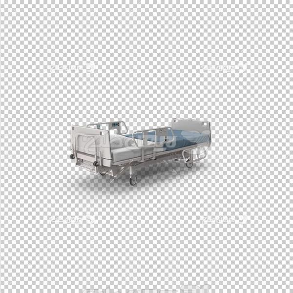 تصویر دوربری سه بعدی تخت بیمارستان