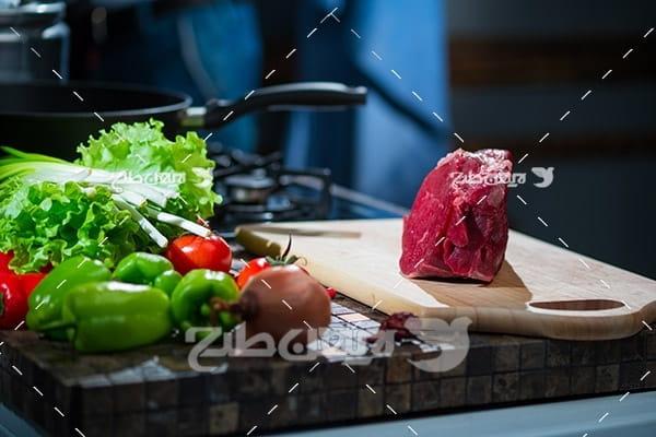 گوشت ماهی و آشپزخانه