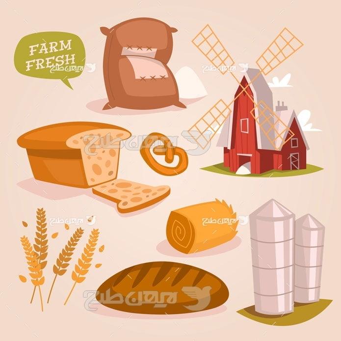 وکتور گندم و نان و کشاورزی