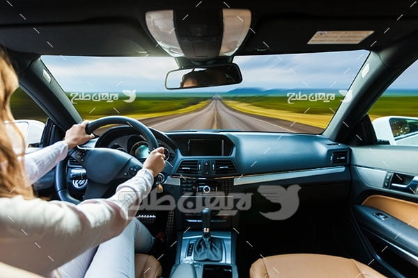 تصویر راننده و ماشین