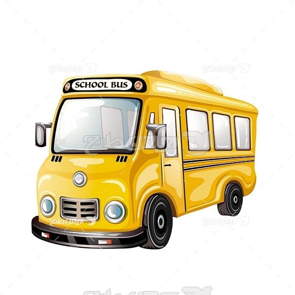 وکتور ماشین اتوبوس