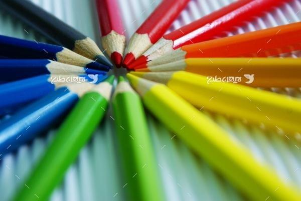 عکس مداد رنگی
