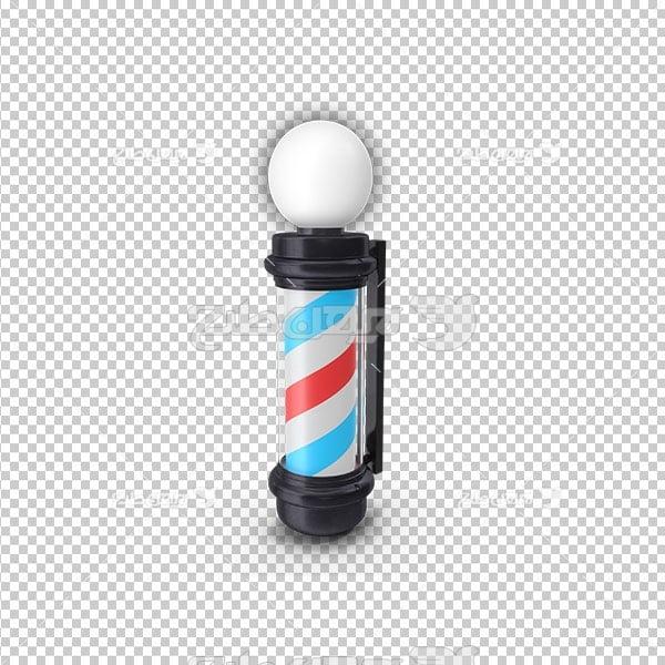 تصویر دوربری پی ان جی علامت آرایشگاه مردانه