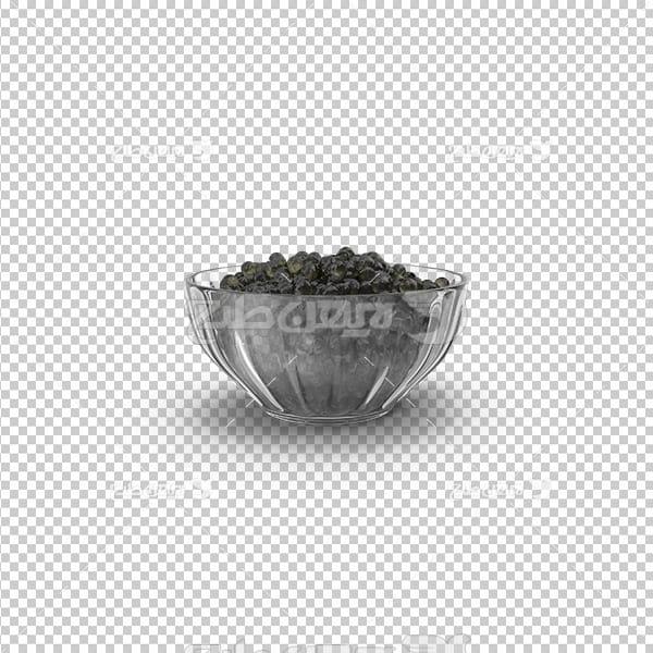 تصویر دوربری سه بعدی فلفل سیاه