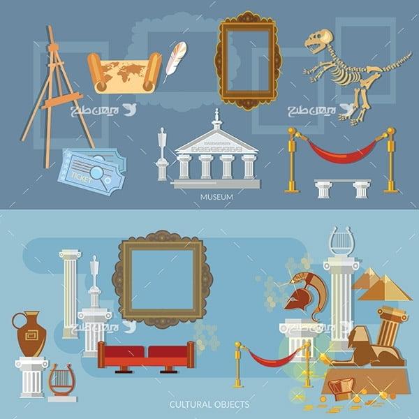 طرح وکتور گرافیکی موزه