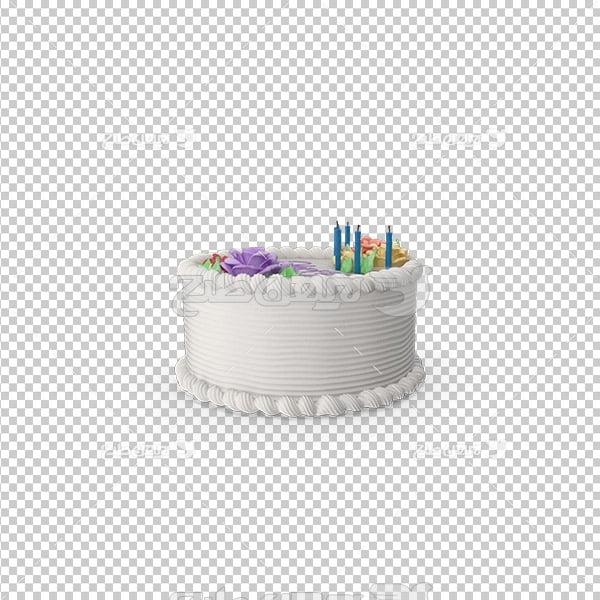 تصویر دور بری سه بعدی کیک خامه ای