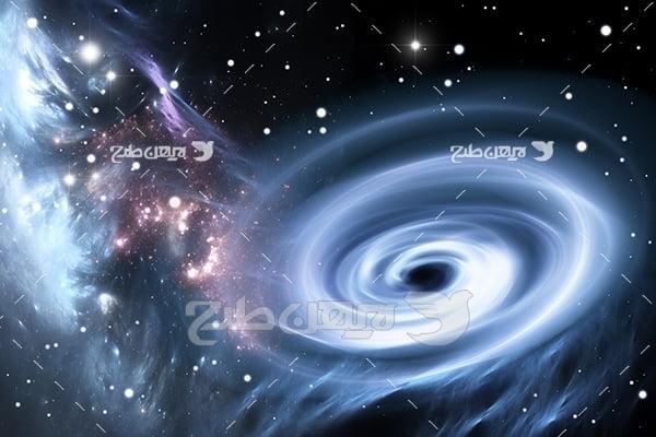 عکس گرداب در فضا
