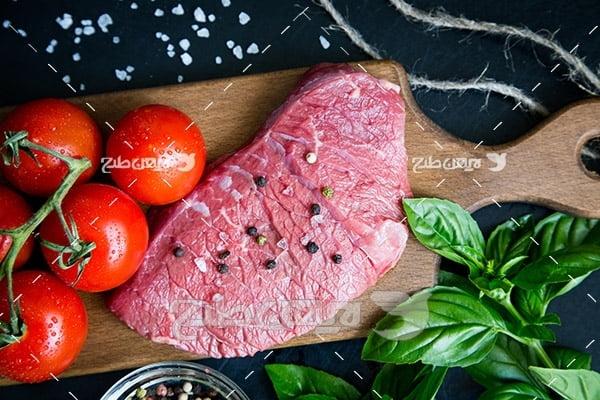 گوشت ماهی و گوجه فرنگی
