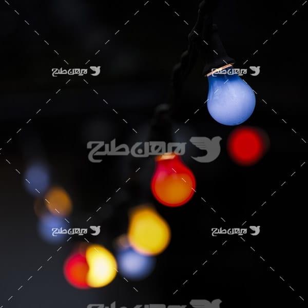 عکس با کیفیت از لامپ و بوکه نور