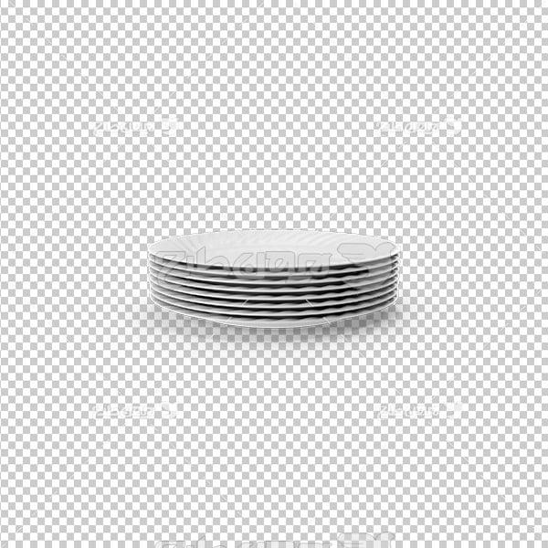 تصویر دوربری سه بعدی بشقاب