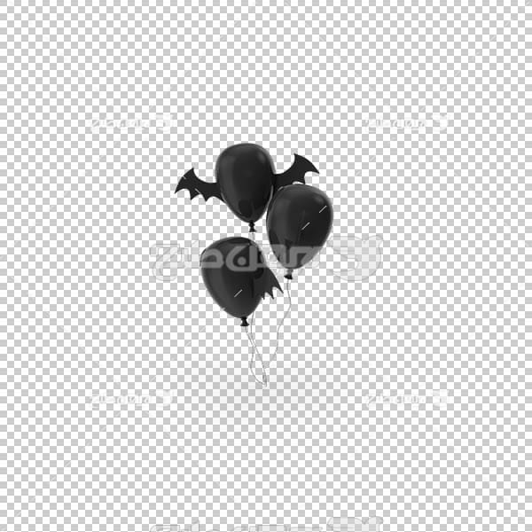 تصویر سه بعدی دوربری بادکنک مشکی