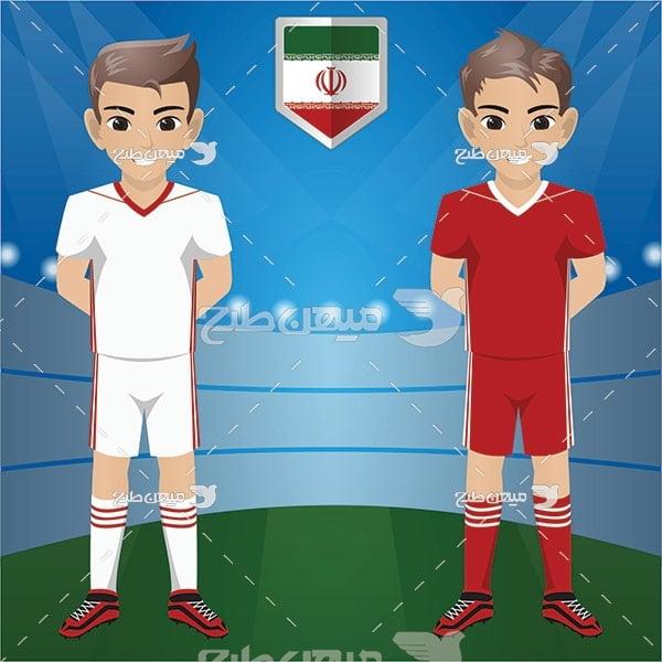 وکتور فوتبالیست ایران
