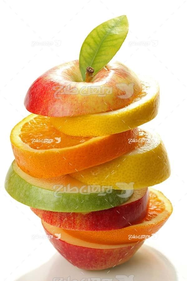 عکس میوه تکه شده