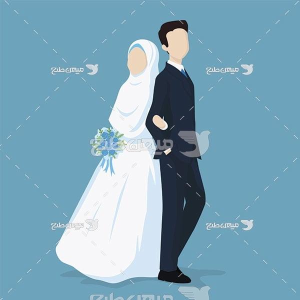 وکتور مزون عروس و داماد