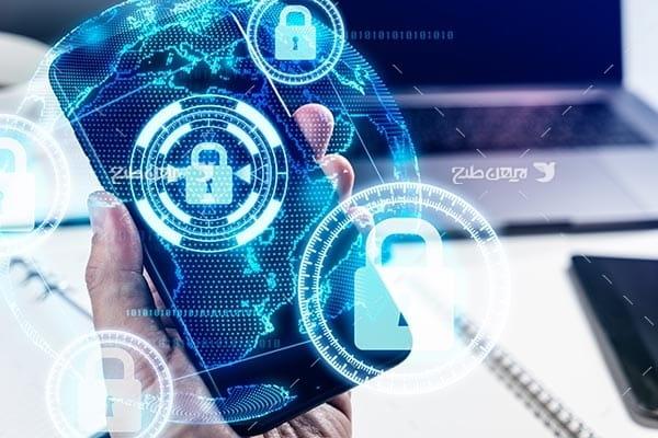 تصویر قفل و امنیت در فضای اینترنت و موبایل