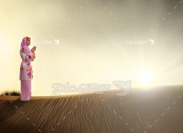 عکس مذهبی نماز خواندن مسلمان