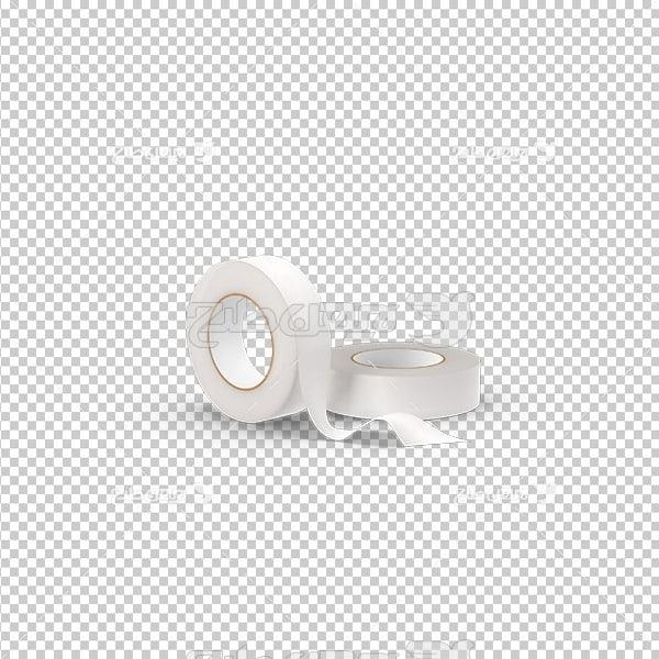 تصویر دوربری سه بعدی چسب پانسمان