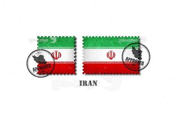 وکتور پرچم و نقشه ایران