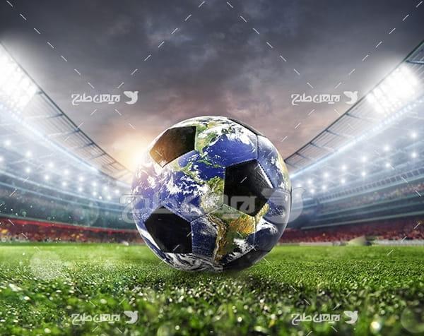 عکس توپ فوتبال و کره زمین