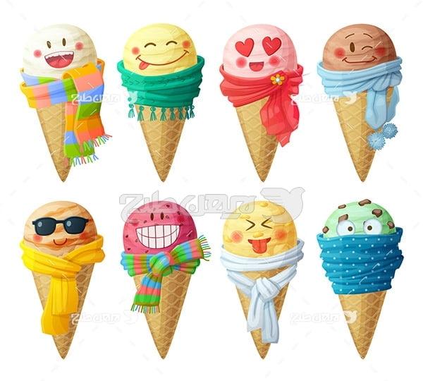 وکتور بستنی