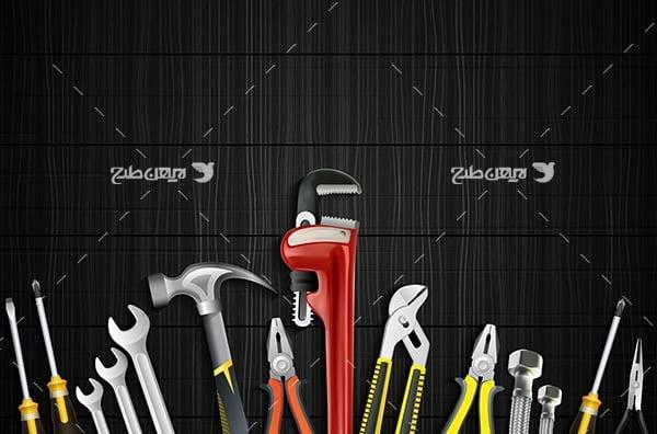 طرح وکتور ابزار های صنعتی