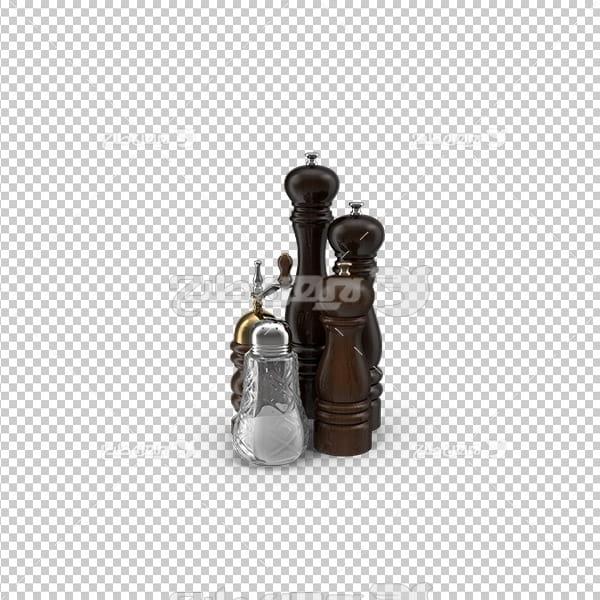 تصویر دوربری سه بعدی نمکدان