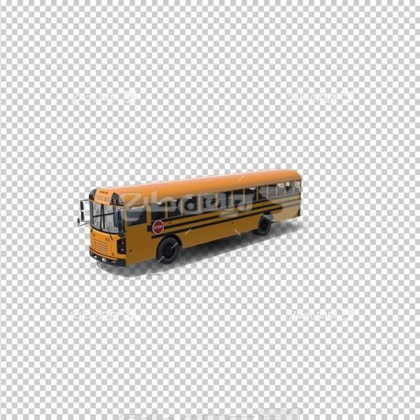 تصویر دوربری سه بعدی اتوبوس