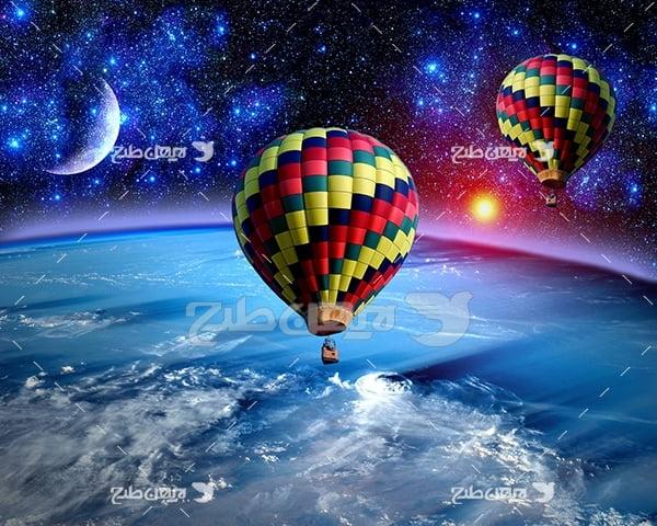 عکس بالن در فضا