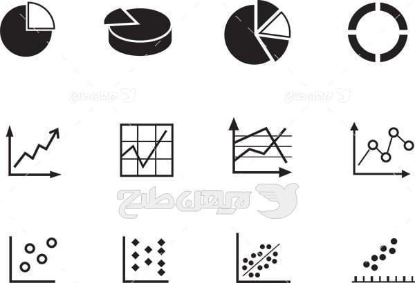 وکتور لوگو و آیکن نمودار اندازه گیری