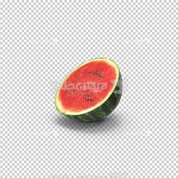 تصویر دوربری سه بعدی هندوانه