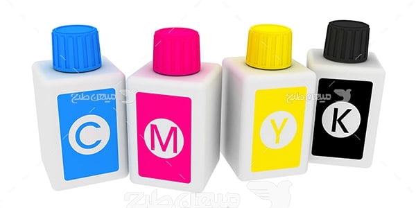 عکس نماد رنگ چاپ و تبلیغات CMYK