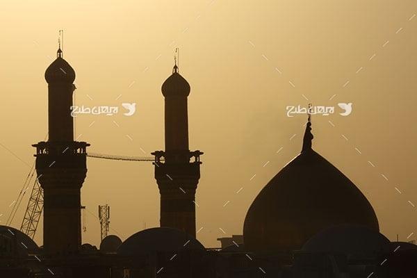 تصویر با کیفیت از ضد نور گنبد امام حسین علیه السلام