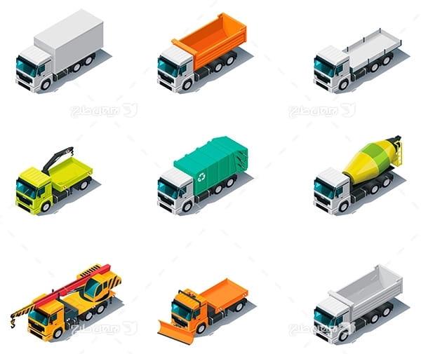 طرح گرافیکی وکتور کامیون