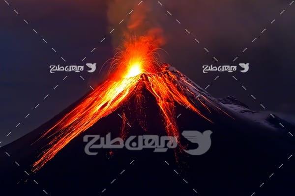 تصویر کوه آتشفشان