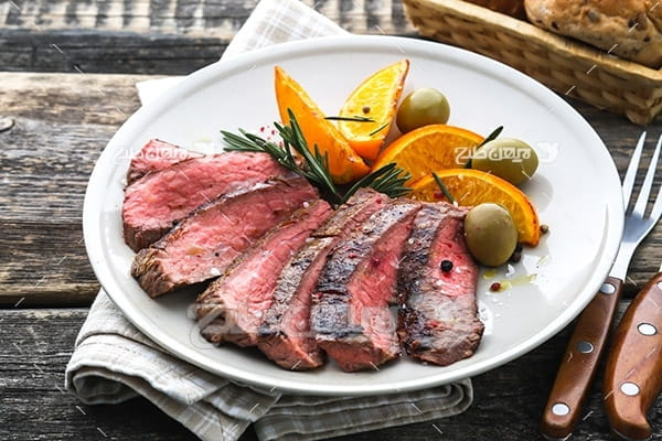 گوشت ماهی، لیمو و زیتون