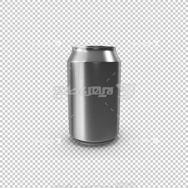 تصویر سه بعدی دوربری قوطی نوشیدنی