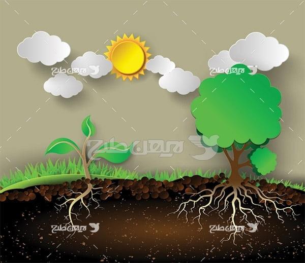 وکتور محیط زیست