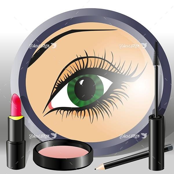 وکتور چشم خانم برای طراحی آرایشگری