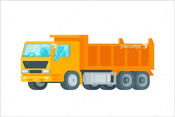 طرح گرافیکی وکتور کامیون حمل بار
